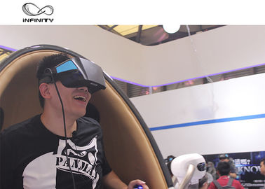 Cina Sistem Listrik 9D VR Cinema, Platform Gerak 360 Derajat Virtual Reality Egg Chair pabrik
