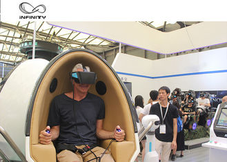 Taman Hiburan 9D Virtual Reality Simulator / Double Seats VR Egg Cinema pemasok