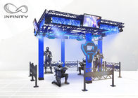 4 Players Shooting Game Simulator Virtual Reality Walking Platform
