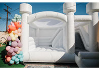 White Wedding Bouncy Castle House , Wedding Bounce House