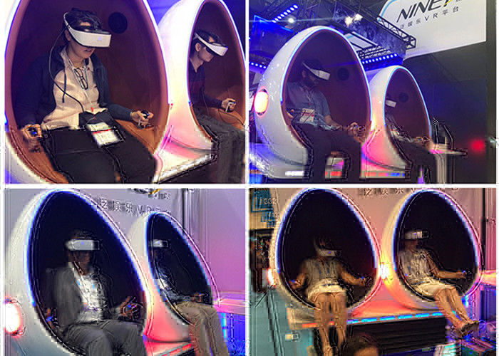 Cina Motion Seats 9D VR Cinema Virtual Reality Roller Coaster Untuk Hiburan pabrik