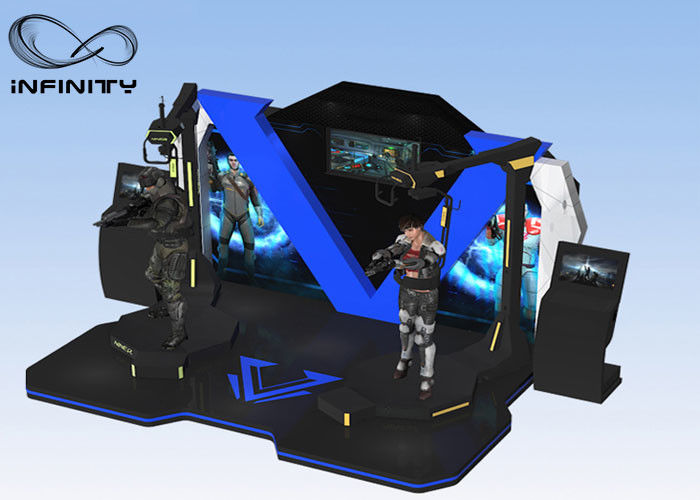 INFINITY Multiplayer 4 Mesin Virtual Reality Arcade Game / Platform Berdiri VR