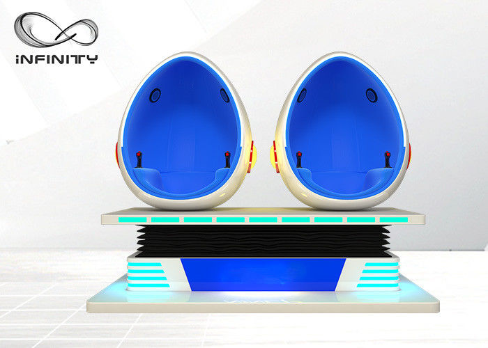Exciting 9D Virtual Reality Egg Chair Cinema Game Simulator For Airport , Club