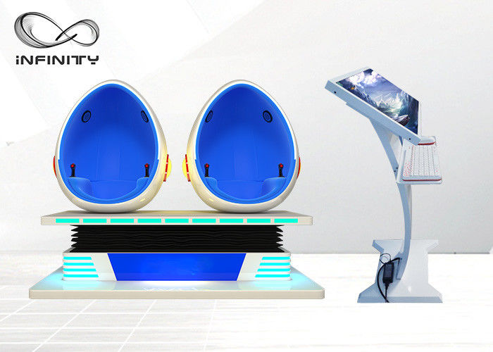 Cina 1500W 9D Egg Chair Cinema Dengan Game Interaktif 9d Virtual Reality Movie Machine Untuk Shopping Mall pabrik