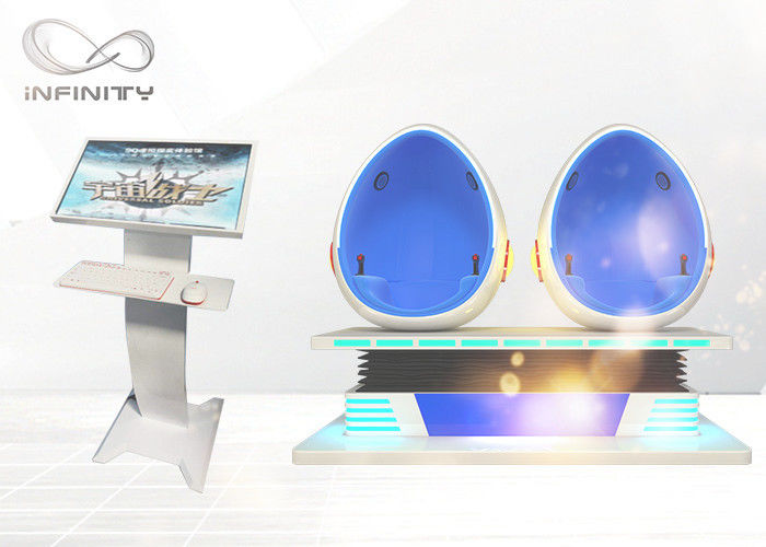 Cina 9D Virtual Reality VR Cinema Game Dengan Film Interaktif VR Egg Chair Cinema pabrik