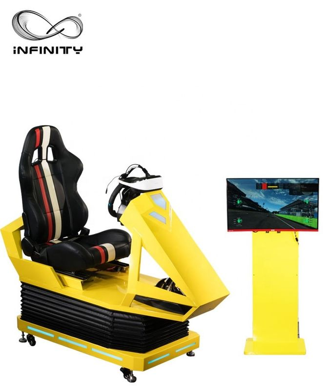 Interactive 9D VR Car Racing Simulator For Adult / Children  1 Year Warranty