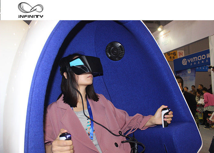 Cina Taman Hiburan 9D Virtual Reality Simulator / Double Seats VR Egg Cinema pabrik