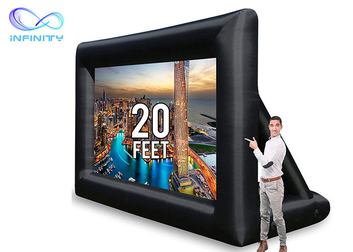 14ft 15ft 20ft Advertising Infinity Products Inflatable Screen Projector For Outdoor Event Party