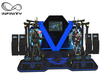 4 Players Standing Virtual Reality Game Simulator For Park 12 Months Warranty