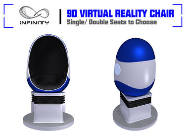 Shopping Mall Electric System Amusement 9D VR Egg Cinema