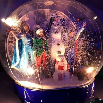 Advertising Inflatable Snow Dome Human Size Inflatable Snow Globes For Christmas Decoration